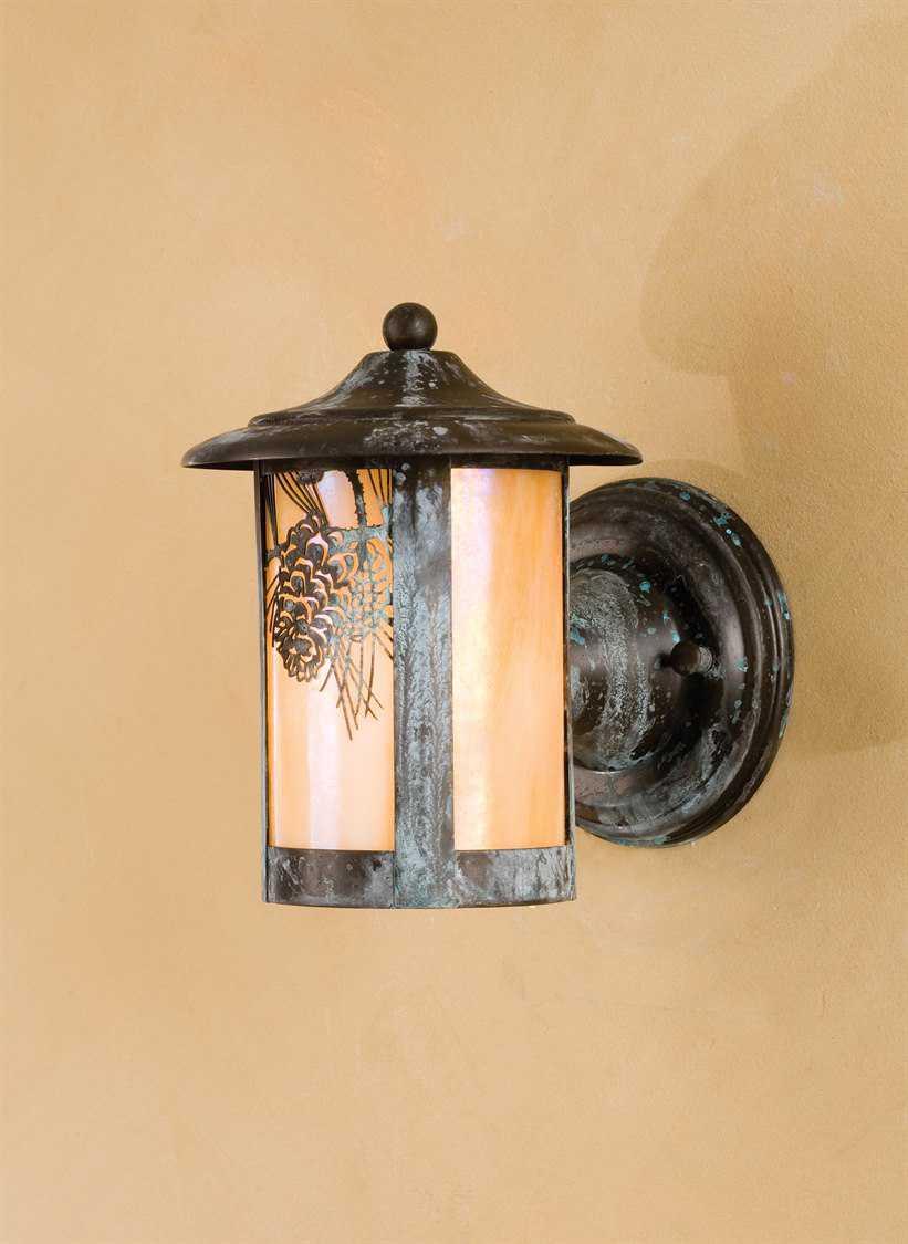 Meyda Tiffany Fulton Winter Pine Solid Mount Outdoor Wall Light 50706
