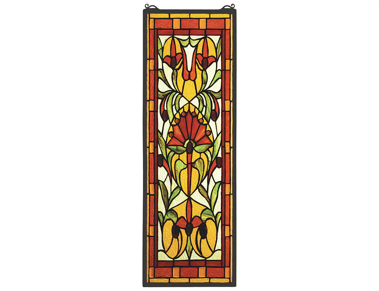 Superb img of Meyda Tiffany Piccadilly Stained Glass Window 52012 with #B99312 color and 1462x1125 pixels