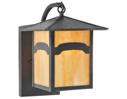 Meyda Tiffany Seneca Mountain View Curved Arm Outdoor Wall Light
