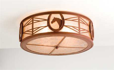 Meyda Tiffany Horseshoe Four-Light Flush Mount Light