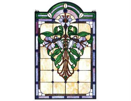 Meyda Tiffany Nouveau Lily Stained Glass Window