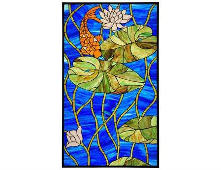 Meyda Tiffany Koi Pond Lily Stained Glass Window