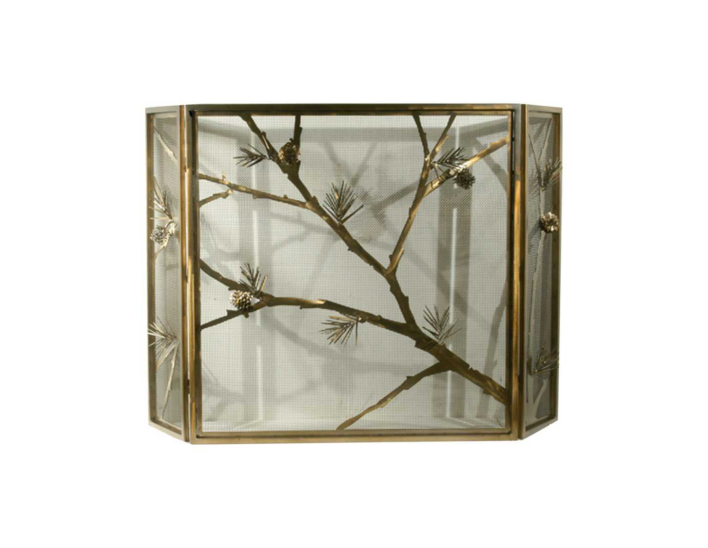 Meyda Tiffany Lone Pine Folding Fireplace Screen 71075