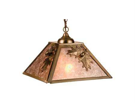 Meyda Tiffany Oak Leaf & Acorn Two-Light Pendant