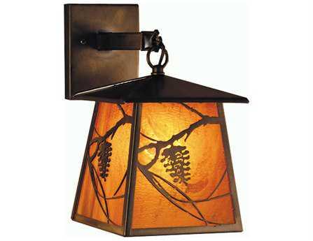 Meyda Tiffany Whispering Pines Lantern Outdoor Wall Light