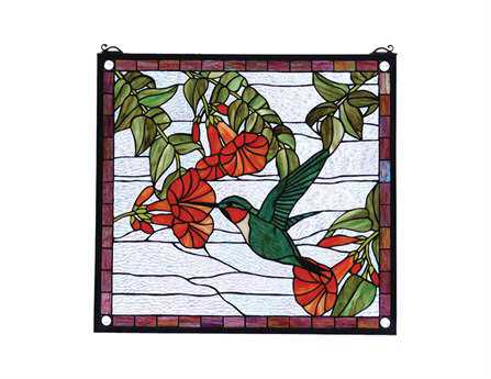 Meyda Tiffany Hummingbird Stained Glass Window