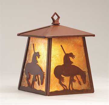 Meyda Tiffany Trails End Hanging Outdoor Wall Light