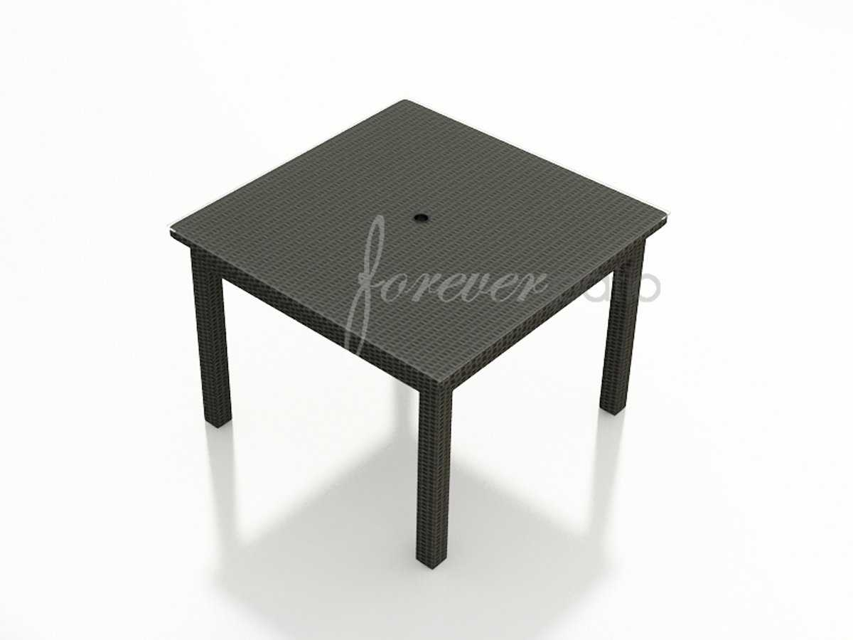 Forever Patio Barbados Wicker Square 48 Dining Table with  : NCBAR48DINGLAS1zm from www.luxedecor.com size 1200 x 900 jpeg 34kB
