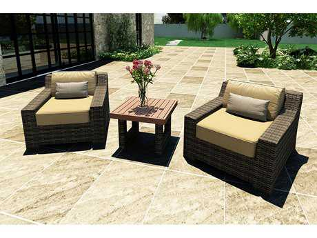 Forever Patio Barbados Wicker 8 or more Cushion Casual Patio Dining Set