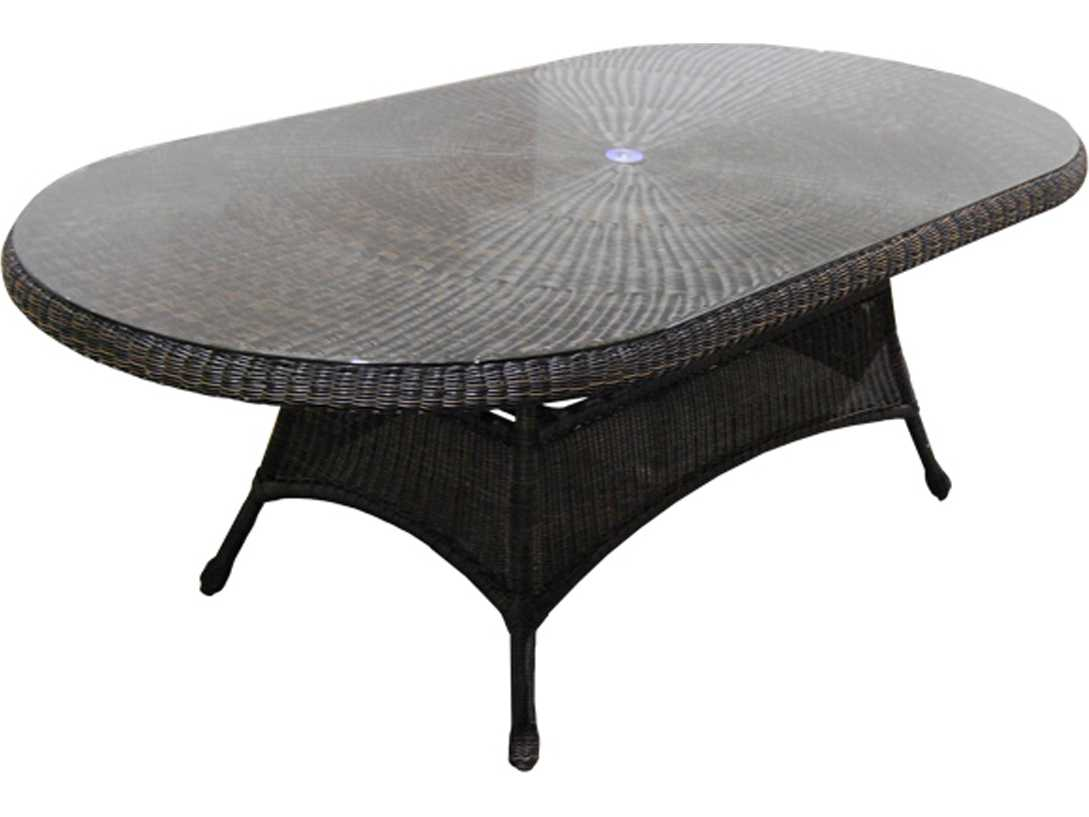 Forever Patio Catalina Wicker 84 x 42 Oval K D Dining