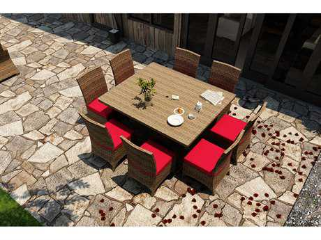Forever Patio Cypress Wicker 8 or more Cushion Casual Patio Dining Set