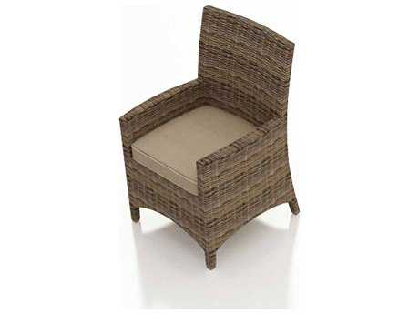 Forever Patio Cypress Wicker Cushion Arm Dining Chair