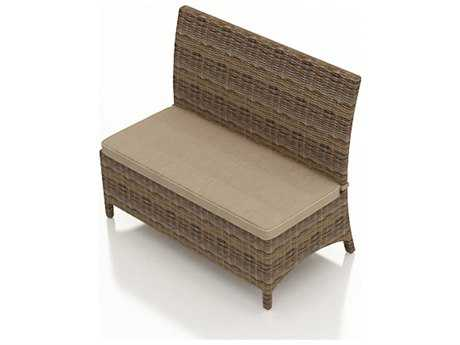 Forever Patio Cypress Wicker Cushion Dining Loveseat