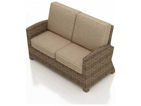 Forever Patio Cypress Wicker Cushion Arm Loveseat