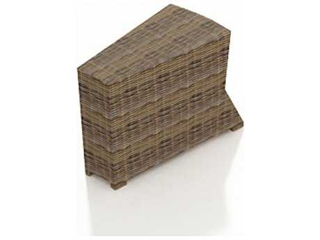 Forever Patio Cypress Wicker 32.5 x 15 Wedge Rectangular End Table