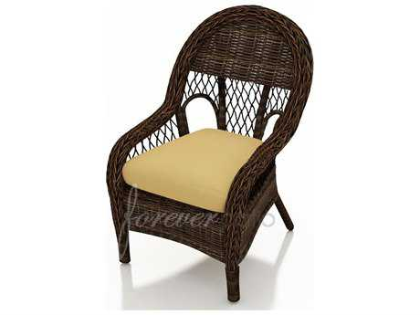 Forever Patio Leona Wicker Cushion Arm Dining Chair