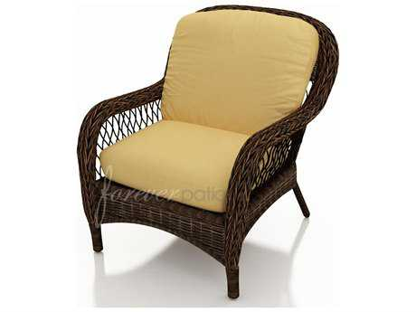 Forever Patio Leona Wicker Cushion Arm Lounge Chair