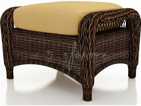 Forever Patio Leona Wicker Cushion Ottoman