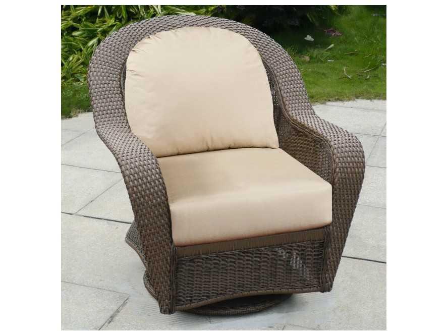 Forever Patio Winward Wicker Swivel Glider Club Chair