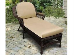 NorthCape Manchester Wicker Cushion Arm Chaise Lounge