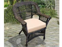 NorthCape Manchester Wicker Cushion Arm Lounge Chair