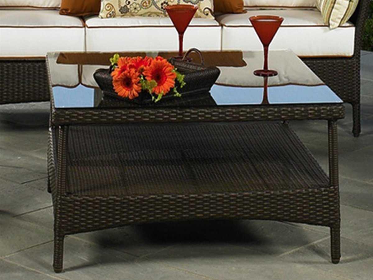 northcape venice wicker square patio coffee table nc4062cvt