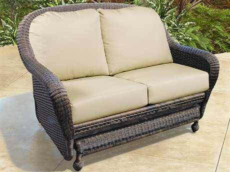 Forever Patio Northcape Montclair Wicker Cushion Arm Glider Loveseat Nc4063g2
