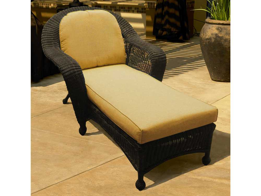 Forever patio catalina wicker chaise lounge fp cat cl for Cat chaise lounge
