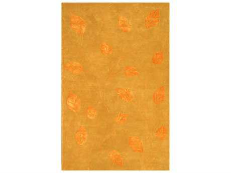 Noble House Florence Transitional Orange Hand Made Wool Floral/Botanical 5' x 8' Area Rug - FLOR460558