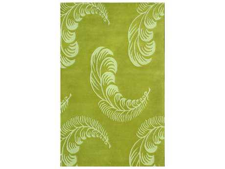 Noble House Floral Transitional Green Hand Made Wool Floral/Botanical 5' x 8' Area Rug - FLORA580258