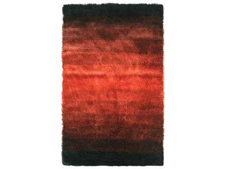 Noble House Jewel Modern Red Hand Made Synthetic Stripes 4' x 6' Area Rug - JEWE440446