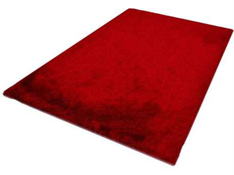 Noble House Milan Shag Red Other Synthetic Solid 5' x 7' Area Rug - MIL380957