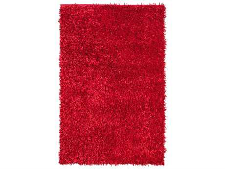 Noble House Sahara Modern Red Hand Made Synthetic Solid 4' x 6' Area Rug - SARA220746