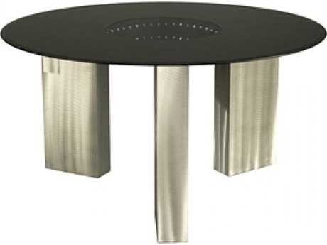 nova stealth 54 39 39 round brushed nickel black dining table 531