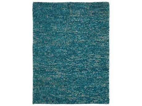 Nourison Fantasia Modern Teal Hand Made Wool Solid 3'6'' x 5'6'' Area Rug - 99446224729