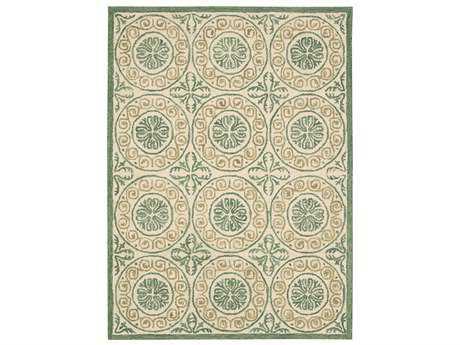 Nourison Marina Transitional Beige Hand Made Wool Geometric 5' x 7'6'' Area Rug - 99446199423