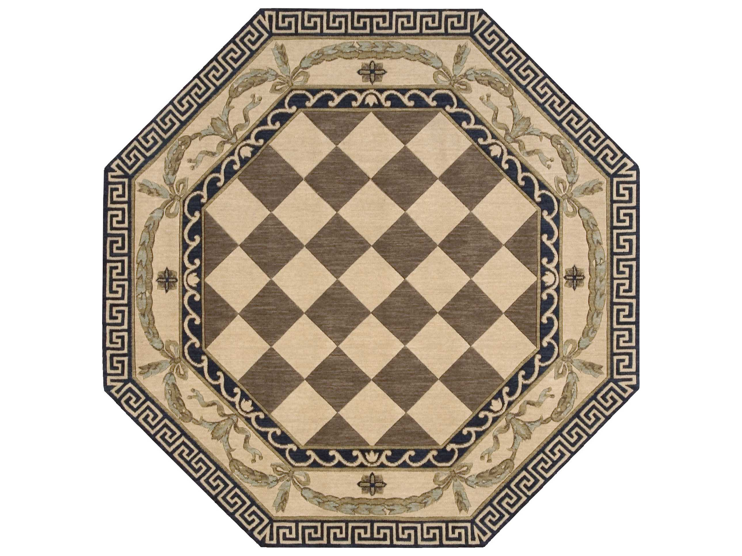 Nourison Vallencierre Octagon Brown Area Rug
