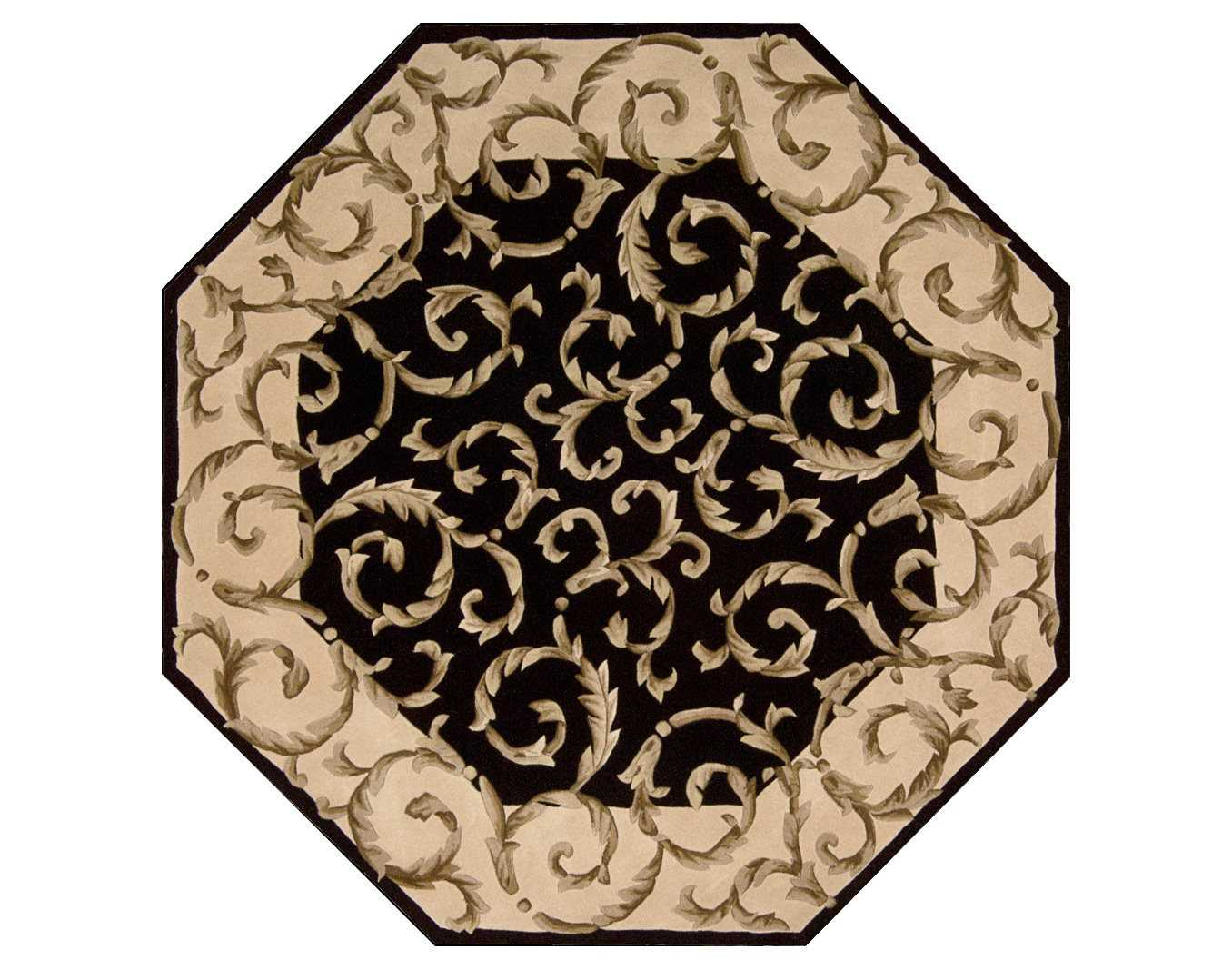 Nourison Versailles Palace 6 Octagon Black Area Rug : NRVP43BLKOCT2zm from luxedecor.com size 1356 x 1067 jpeg 121kB
