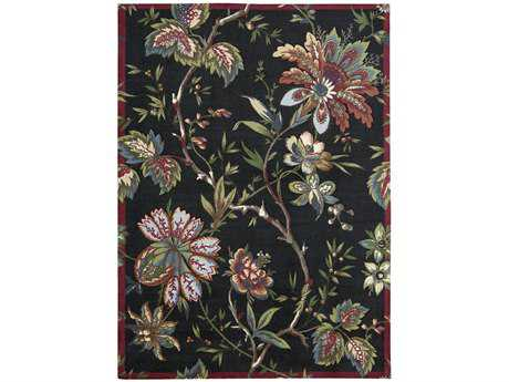 Nourison Waverly Artisanal Delight Transitional Black Machine Made Synthetic Floral/Botanical 2'6'' x 4' Area Rug - 99446174642