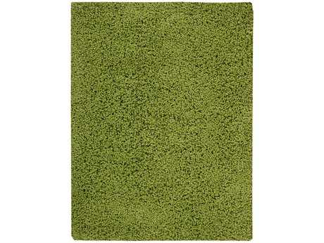 Nourison Zen Transitional Green Hand Made Synthetic Solid 3'6'' x 5'6'' Area Rug - 99446078841