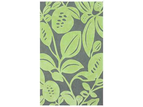 nuLOOM Cine Novelty Green Hand Made Synthetic Floral/Botanical Area Rug- ACR165A