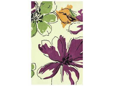 nuLOOM Cine Transitional Hand Made Synthetic Floral/Botanical 5' x 8' Area Rug - ACR169A-508