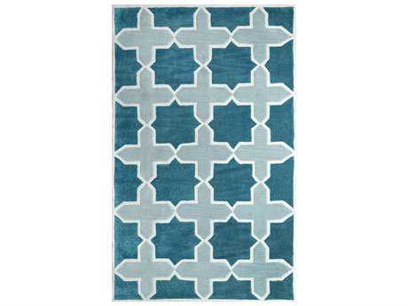 nuLOOM Cine Modern Teal Hand Made Synthetic Geometric Area Rug- ACRGR06A