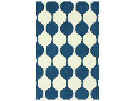 nuLOOM Gradient Modern Blue Hand Made Wool Geometric 5' x 8' Area Rug - AFGD41A-508