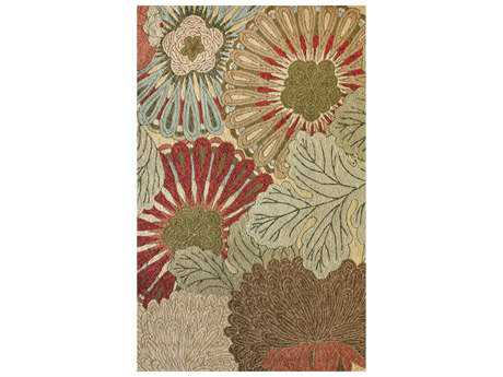 nuLOOM Contemporary Transitional Green Hand Made Synthetic Floral/Botanical 5' x 8' Area Rug - HJAIR4A-508