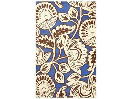 nuLOOM Varanas Transitional Blue Hand Made Wool Floral/Botanical 5' x 8' Area Rug - MTVS115A-508