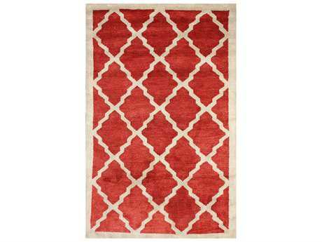 nuLOOM Varanas Modern Red Hand Made Wool Moroccan Area Rug- MTVS81D
