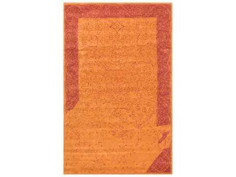 nuLOOM Scarlet Transitional Orange Hand Made Wool Area Rug- SPVE34C