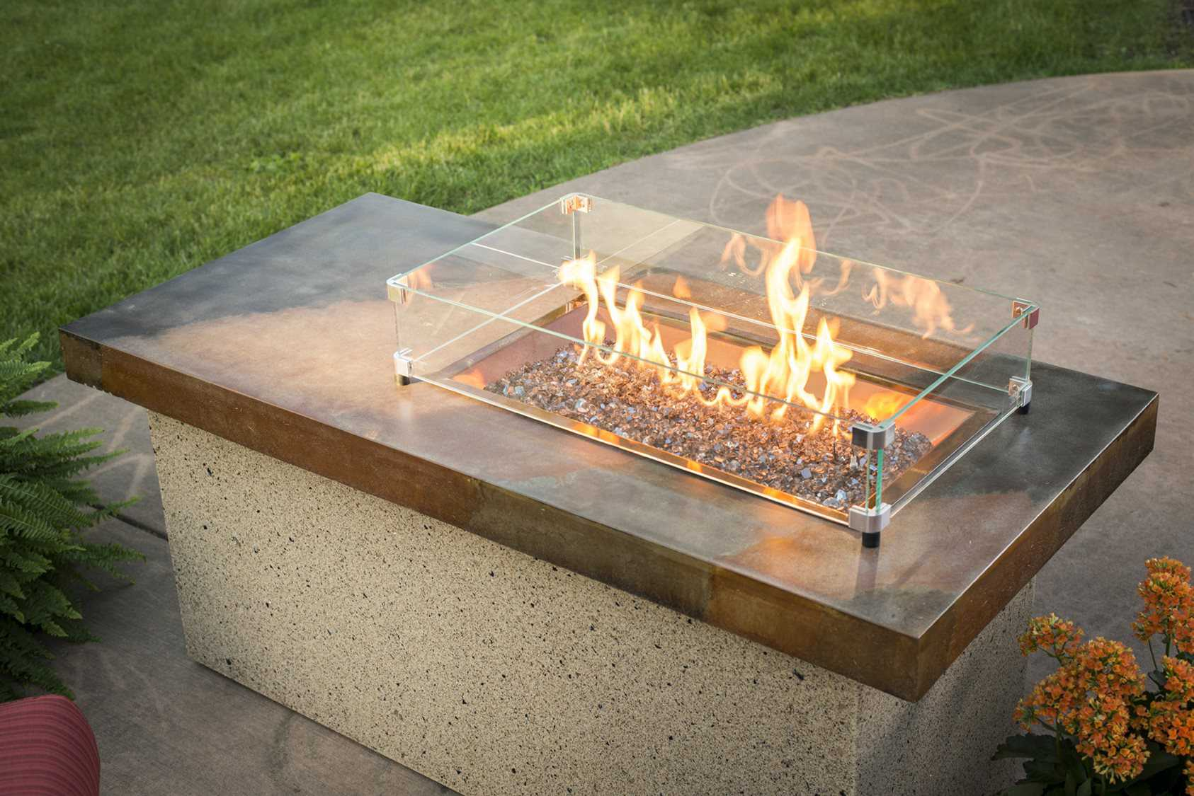 Outdoor Greatroom Artisan Stone 54 X 25 5 Rectangular Fire