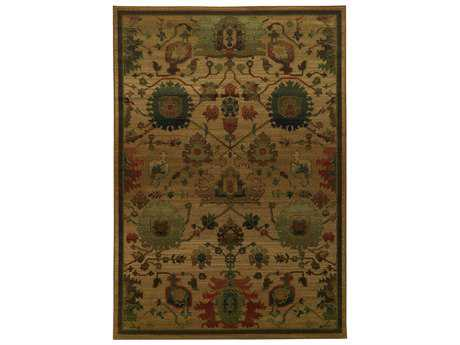 Oriental Weavers Tommy Bahama Villa Transitional Brown Machine Made Synthetic Floral/Botanical 5'3